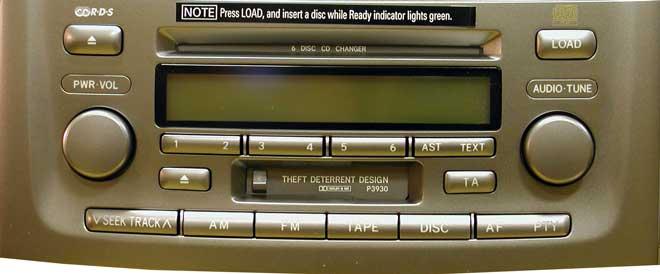 Штатная магнитола для Lexus P3930, P3946 фото