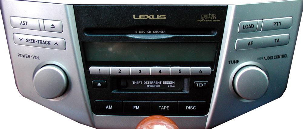 Штатная магнитола для Lexus P3941, P3947 фото