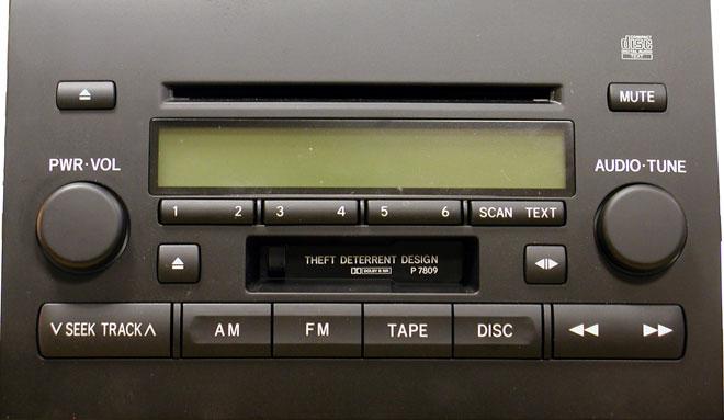 Штатная магнитола для Lexus P7809 фото