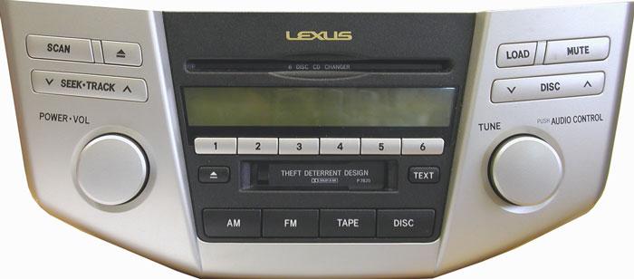 Штатная магнитола для Lexus P7820 фото