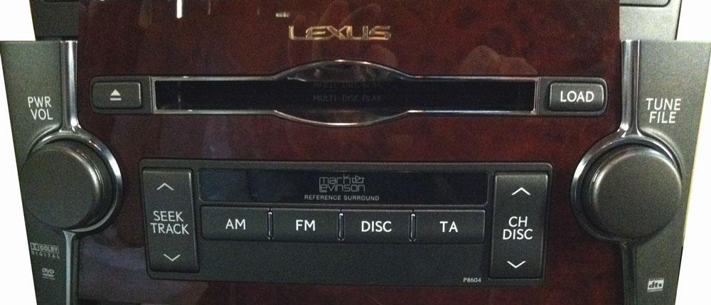 Штатная магнитола для Lexus P8604 фото