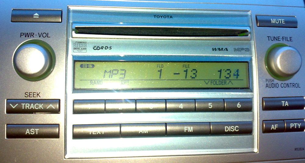 Штатная магнитола для Toyota W53824 фото
