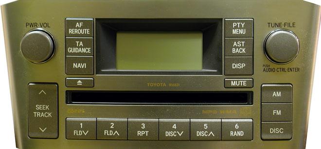 Штатная магнитола для Toyota W58831, W58832 фото
