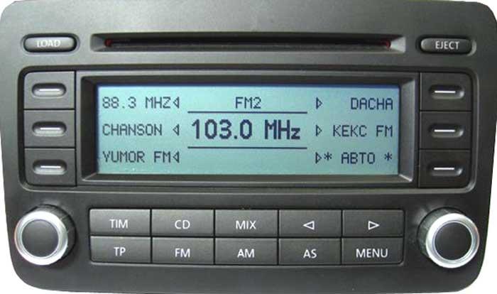 Штатная магнитола для Volkswagen RCD500-MP3 фото