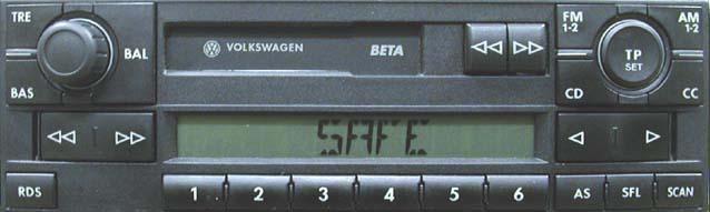 Штатная магнитола для Volkswagen Beta V фото