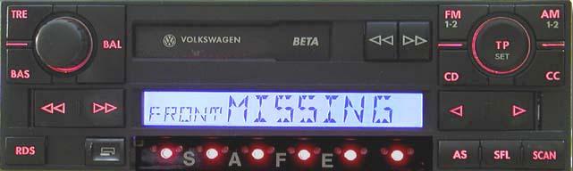 Штатная магнитола для Volkswagen Beta T4 фото