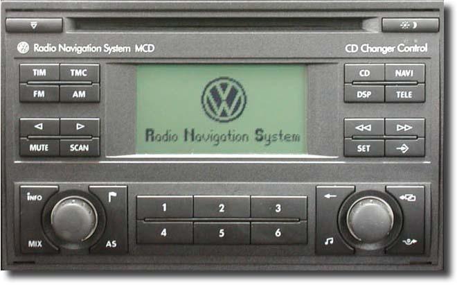 Штатная магнитола для Volkswagen RNS MCD фото