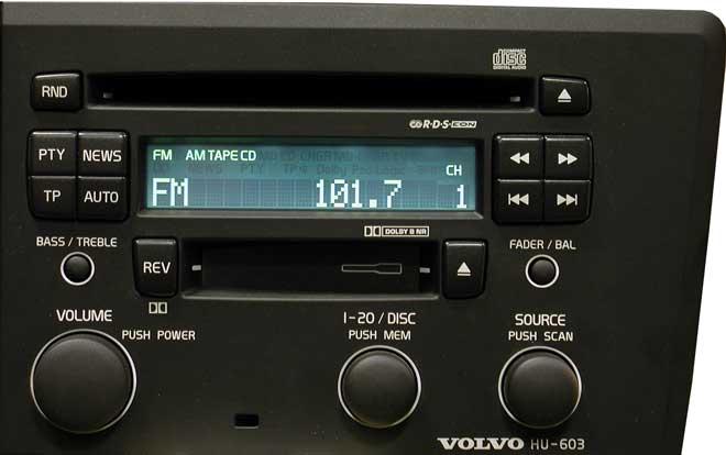 Штатная магнитола для  Volvo HU-603 фото