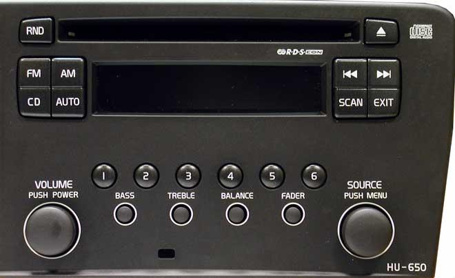 Штатная магнитола для  Volvo HU-650 (CD) фото