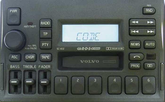 Штатная магнитола для  Volvo SC-802 фото
