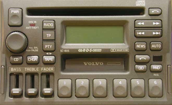 Штатная магнитола для  Volvo SC-805 фото