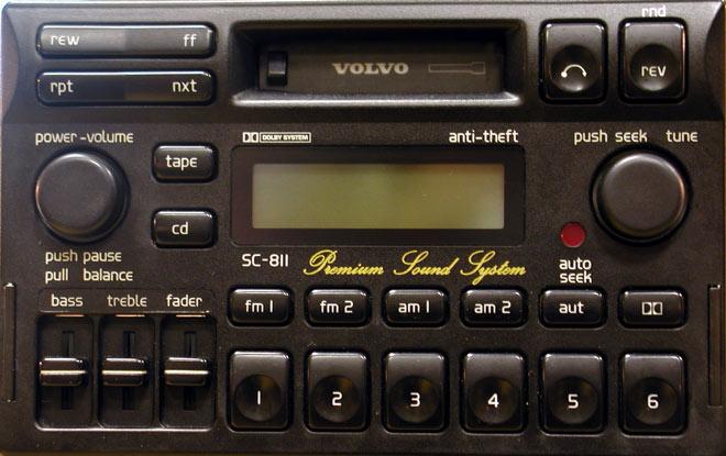 Штатная магнитола для  Volvo SC-811 фото