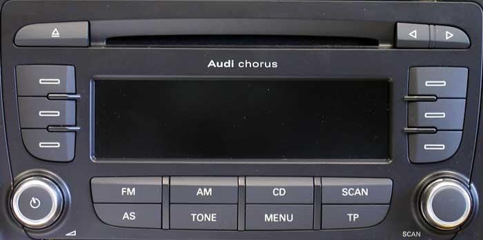 Штатная магнитола для Audi A2 Chorus EU 2-DIN