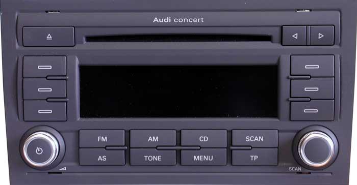 Штатная магнитола для Audi A2 Concert EU 2-DIN (Blaupunkt)
