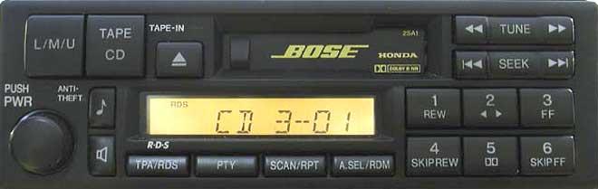 Штатная магнитола Honda Accord 2sa1